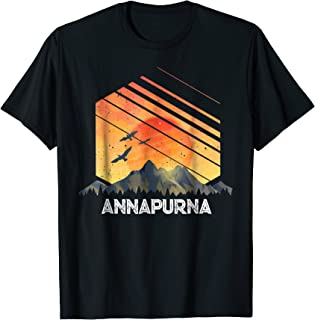 Annapurna Vintage Mountain Sunset 80s Shirt