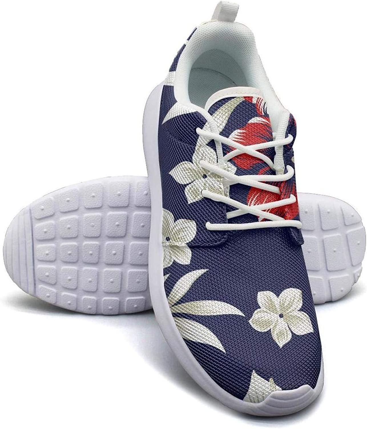 CHALi99 Lady Lightweight Mesh shoes Tropical Floral Hawaiian Design Botanica Sneakers Running Shock Absorbing