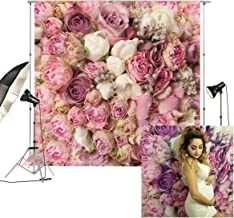 8x8ft Rose Floral Wall Wedding Photography Backdrop Studio Pink Flowers Photo Backdrops FD-8059