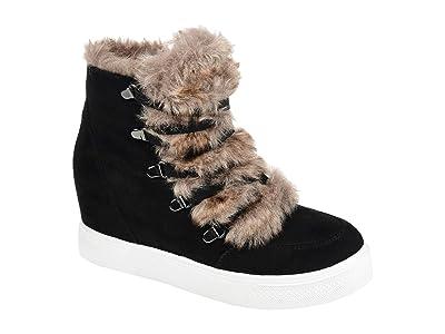 Journee Collection Comfort Foam Madge Wedge Bootie (Black) Women