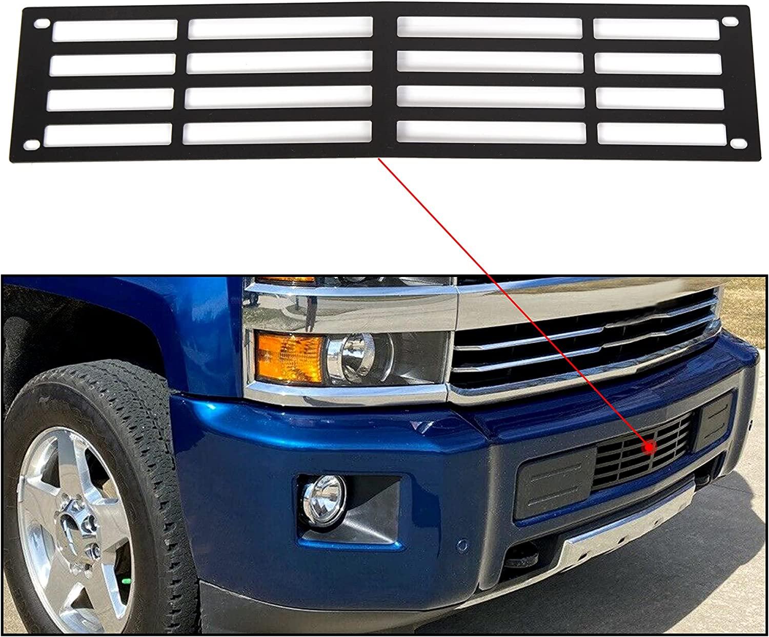 OFFer ECOTRIC New Max 47% OFF Front Bumper Grille Compatible 2015-2019 With Insert