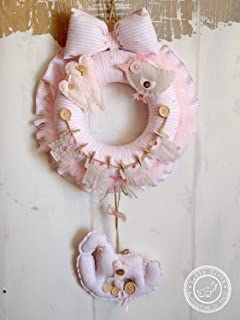 Hospital Door Hanger Decoration, Baby Girl Birth Wreath, 2-DAY FEDEX DELIVERY to USA, Canada, Europe & Others