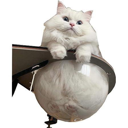 空間を最大限活用できるキャット用「ロケットハンモック」(透明タイプ宇宙船) キャットハンモック キャットベット 猫用