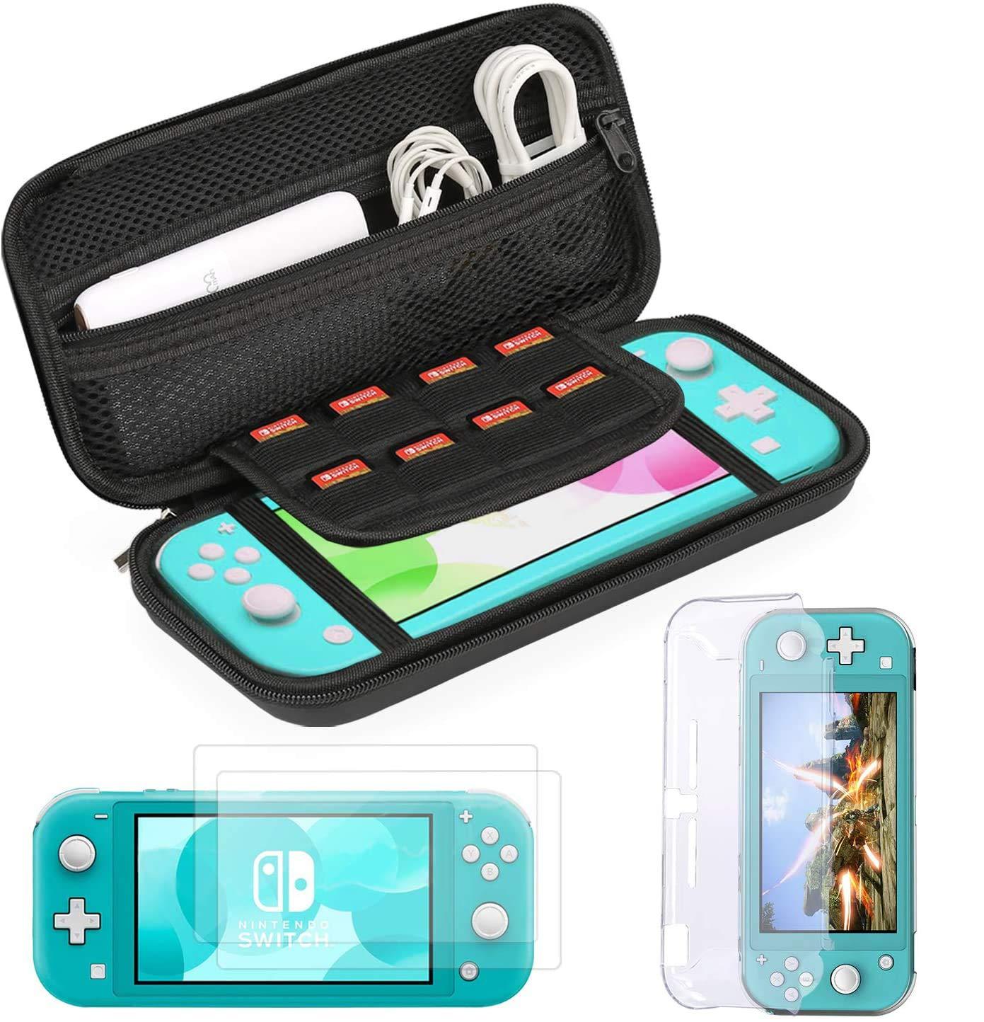Bestico Kit de Accesorios para Nintendo Switch Lite, Protección Funda para Nintendo Switch Lite 2019, Transparente Carcasa, Vidrio Templado Protector de Pantalla para Nintendo Switch Lite (2 Piezas): Amazon.es: Electrónica
