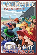 Louisville, Kentucky - Ladies Day at the Track Horse Racing (9x12 Art Print, Wall Decor Travel Poster)