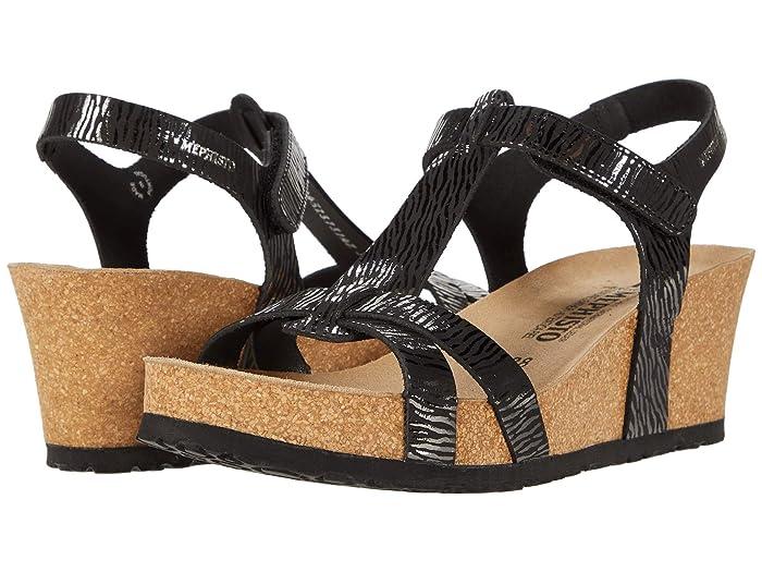 Mephisto  Liviane (Black Zebra) Womens Wedge Shoes
