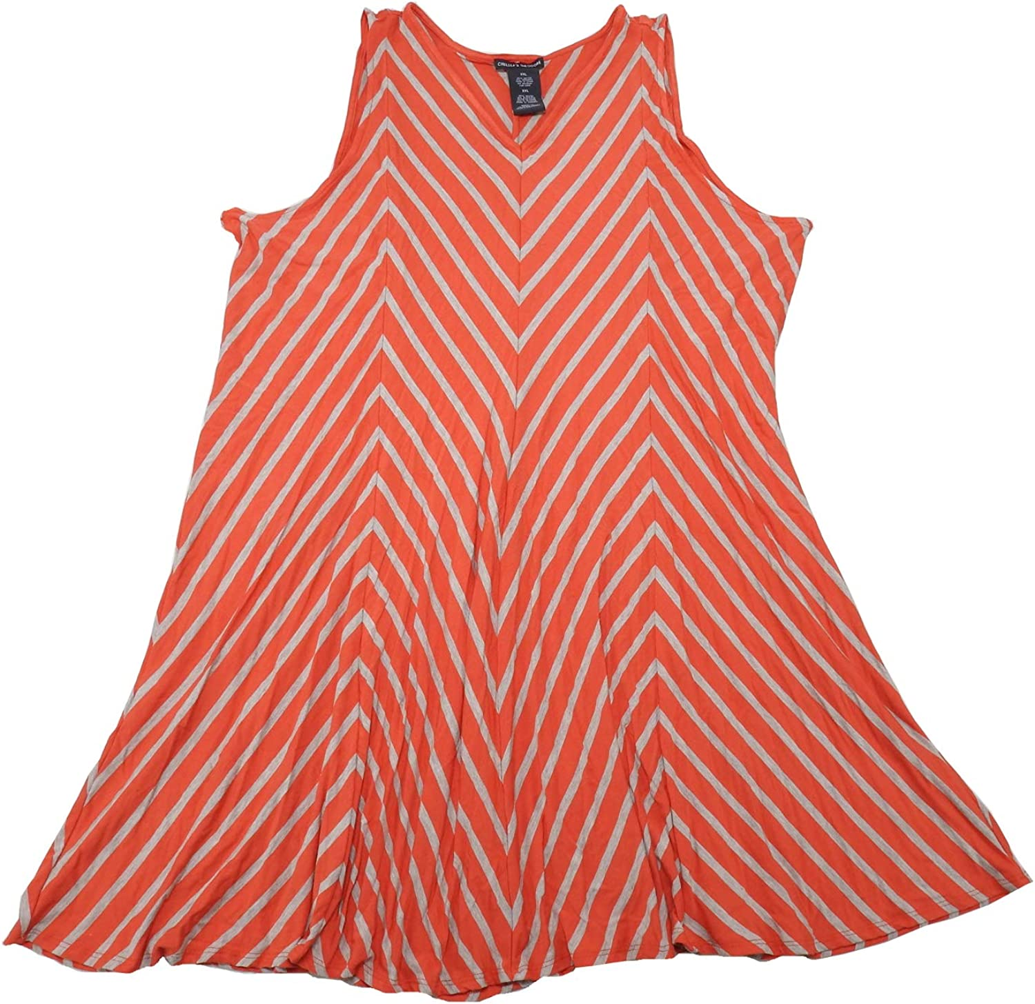 Chelsea & Theodore Womens Sleeveless VNeck Dresses, Striped