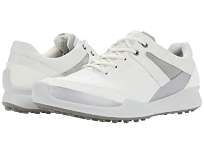 ECCO Golf Biom Hybrid I Hydromax (White/Silver Metallic/White/Yak Leather/Synthetic) Women