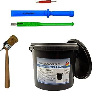 Klistra in vax 3 kg I däckmonteringspasta SVART + ventilskruvverktyg + ventilborttagare ingår i SET