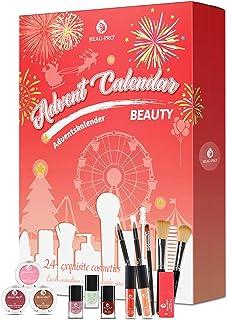 BEAU-PRO Calendrier de l'Avent 2020, Coffret Maquillage, 24 Produits Cosmétiques, Soin de la Peau et Beauté pour Noël, Sup...