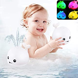 Bath toys, baby shower toys, children's water spray toys, baby toys, whale toys, cut bright lighting bath toys, bathtub to...