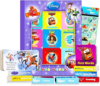 "Disney Pixar Board Books Set for Toddlers Babies Kids - Pack of 9""My First"" Books with Stickers (ABCs, 123s, Colors, Frien..."