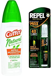 Cutter - Repel Combo Natural Insect Repellent Spray & 100% Travel Size DEET Backup