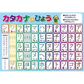 カタカナ 学習ポスター A3サイズ (420×297mm)【日本製 知育玩具 A3 ポスター 学習ポスター】