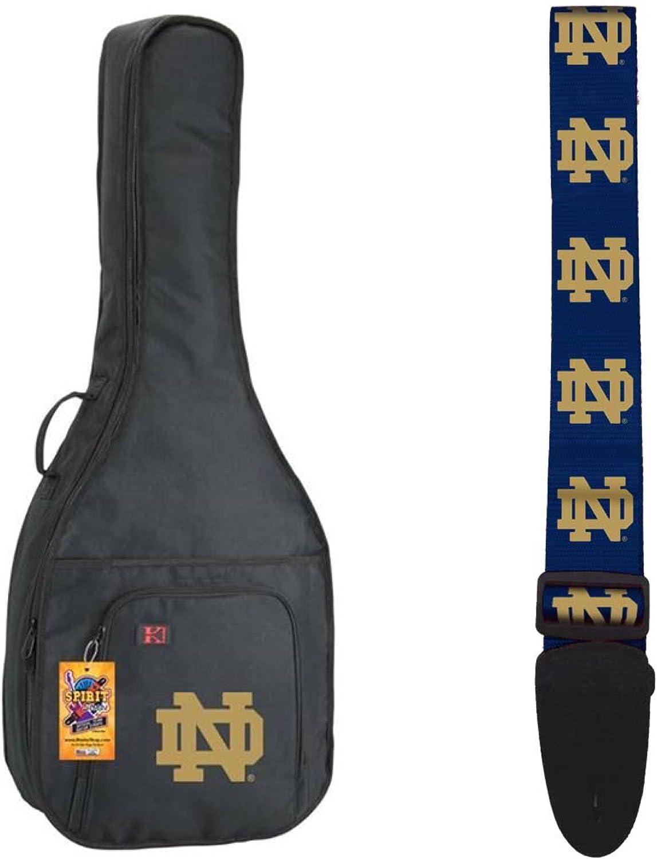 Large-scale sale NCAA Collegiate Acoustic Guitar Bag Notre - Fighting OFFicial shop Dame Strap