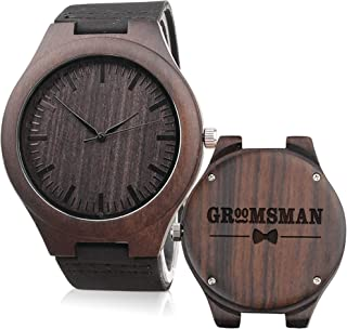 Groomsmen Gifts for Wedding Custom Engraved Wooden Watches for Men Personalized Groomsmen Gifts Ideas
