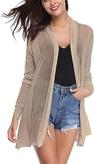 Cinnamou Femme Long Tricot Veste Femme Longue Pull Gilet Femme Manches Longue Sweat Femme Fille Uni D/écontract/é Automne Halloween