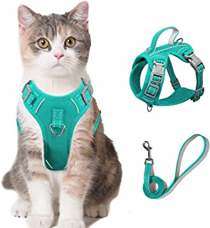 Cat Harness and Leash Set for Walking Escape Proof for Small Large cat Kitten Harness with ID tag Pocket (Blue,XS)