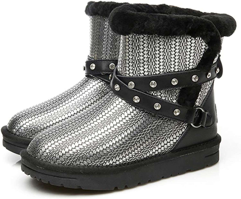 SHANGXIAN Snow Boots Women shoes Winter Warm Fur Boots Ankle Boots Snow depth