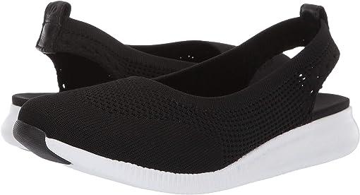 Black Knit/Optic White