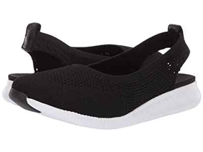 Cole Haan 2.Zerogrand Stitchlite Ballet Sling (Black Knit/Optic White) Women