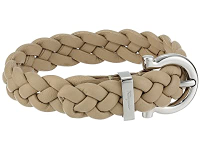 Salvatore Ferragamo Braided Triplait Bracelet 7701014 (Beige) Bracelet