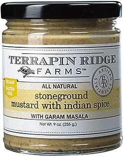 Terrapin Ridge Farms Stoneground Mustard with Indian Spice 9 OZ (Stoneground Mustard with Indian Spice, 1-Pack)