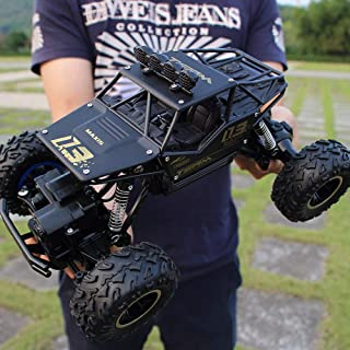 KKEYE RC Car Monster Truck 2.4Ghz Radio Remote Control Racing Trucks with Rechargeable Battery 4WD All Terrain Off Road Rock Crawlers Vehicle Electric Hobby Toy Cars for Adults Boys & Girls