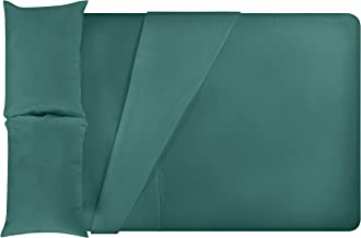 LuxClub 4 PC Sheet Set Bamboo Sheets Deep Pockets Eco Friendly Wrinkle Free Sheets Hypoallergenic Anti-Bacteria Machine Wa...