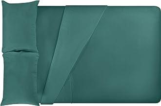 LuxClub 4 PC Sheet Set Bamboo Sheets Deep Pockets Eco Friendly Wrinkle Free Sheets Hypoallergenic Anti-Bacteria Machine Wa...