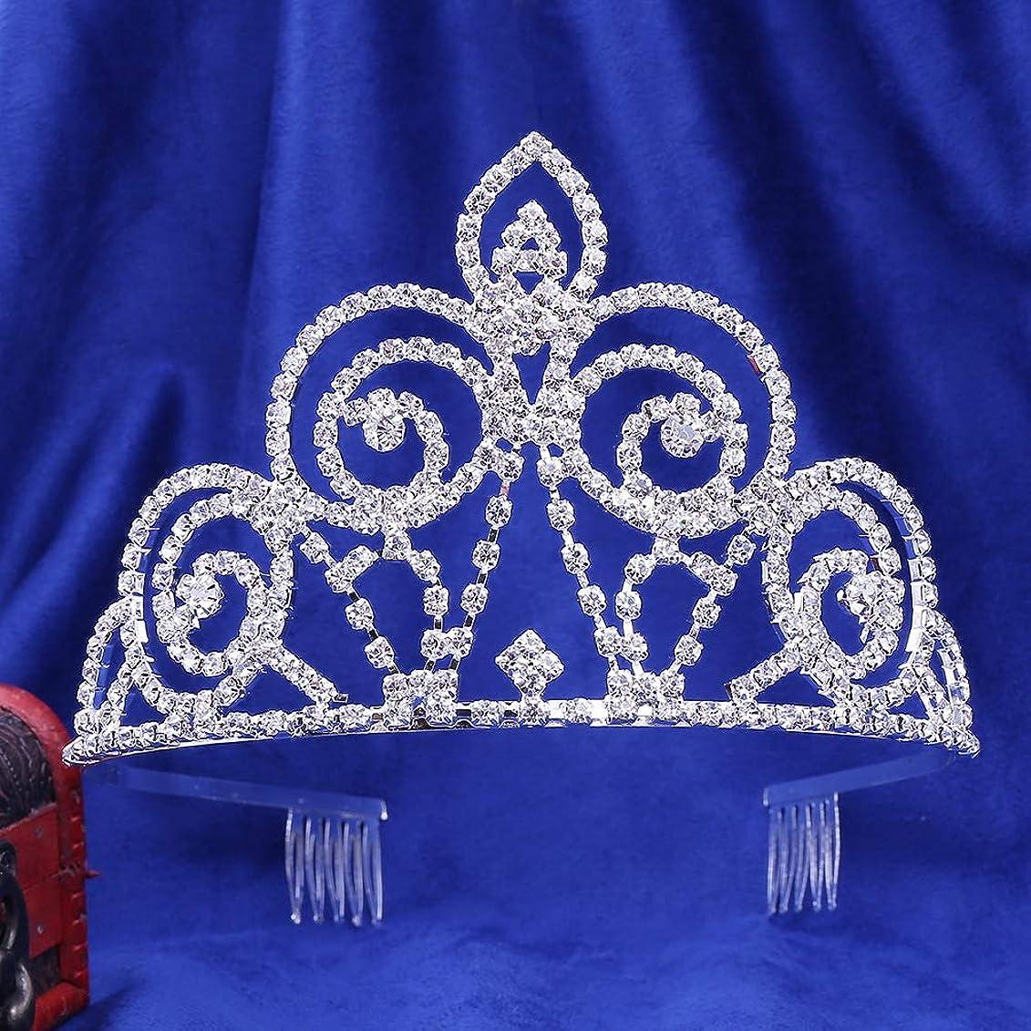 共和党ペック劇作家LYgMV 花嫁の爪チェーンクラウンヨーロッパと米国の人気の結婚式のラインストーン結婚式のヘッドウェアアクセサリーの髪の櫛