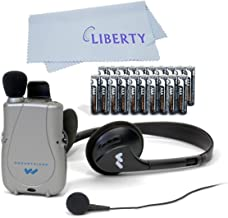 Williams Sound PockeTalker Ultra Duo Sound Amplifier with Headphone & Earbud, Year Supply of Batteries & Liberty Microfibe...