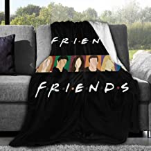 """Friends Blanket Quilt TV Show Flannel Throw Blanket for Sofa Couch Bed (Black Friends, 50""""x40"""")"""