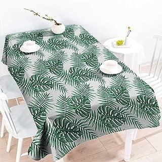 Fashions Rectangular Table Cloth,Leaf Palm Mango Banana Tree Leaves in Tropical Wild Safari Island Jungle Image Artwork,Modern Minimalist,W60X102L Forest Green