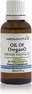 Essential Oil of Oregano - 100% Pure Undiluted, Non GMO, Extra Strength Organic Greek Oregano Oil - Over 86% Carvacrol Oregano Extract Liquid Nutritional Supplement (1 FL.OZ/30ML)