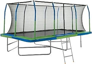 Upper Bounce Mega Outdoor Trampoline with Fiber Flex Enclosure System, 10' X 17' | Big Trampoline for kids | Rectangular adult trampoline | Safe & Fun Great Exercise Trampoline | Bonus 42