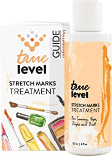 True Level Stretch Marks Treatment Cream with Peptides Vitamin C Hyaluronic Acid (4 fl oz / 120ml)