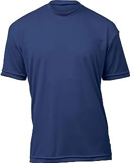 product image for WSI Microtech Loose Short Sleeve Shirt, Navy, Medium