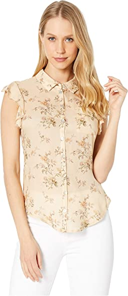 Flutter Sleeve Button Down Shirt