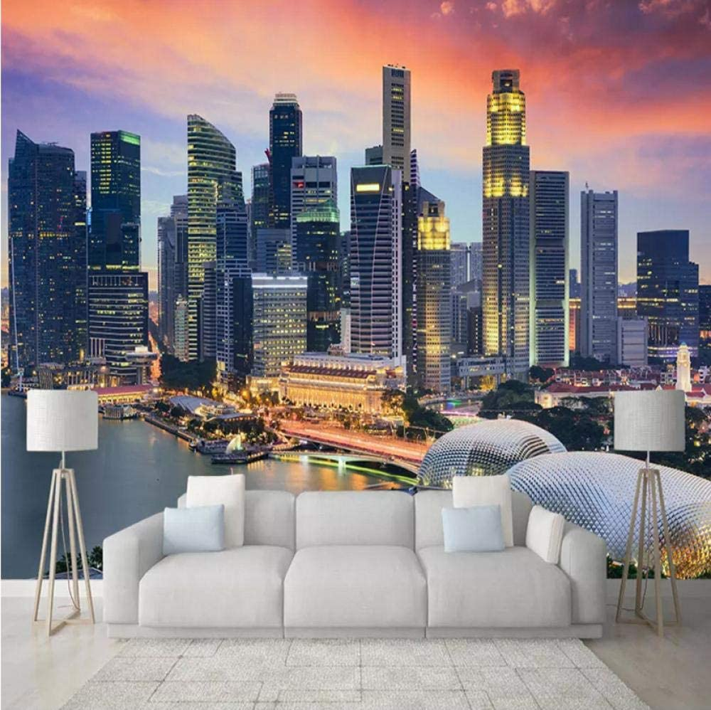 Custom Photo Wallpapers 3D Singapore Night City Whole Our shop OFFers the best service House Choice View