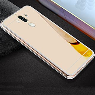 Huawei Honor6A Soft TPU Case, Very Light Slim Elegent Shiny Reflective Mirror Concise Style, WEIFA 2018 Newest Super Cool Personal Cellphone Cover Case for Huawei Honor 6A Pink