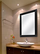 Creative Arts n Frames Sober Fiber Wood Solid Premium Water Resistant Wall Mirror (15 X 21 Inch, Black)