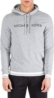 Michael Kors Men's Embroidered Logo Hoodie Large Heather Grey
