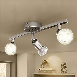 Plafonnier LED 3 x 3W Orientable, Öuesen Éclairage de Plafond 3xGU10 Spot LED Angle Réglable Luminaire Plafonnier Blanc Ch...