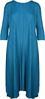 PLEATS PLEASE ISSEY MIYAKE Luxury Fashion Womens PP06JH59674 Blue Dress | Spring Summer 20