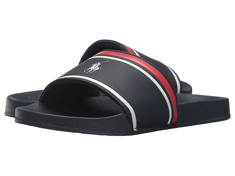 Polo Ralph Lauren Kids Quilton Slide (Little Kid/Big Kid) (Navy Tumbled/Navy EVA/White Pony Player) Boys Shoes