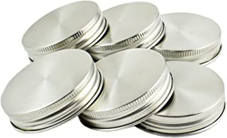 Zoie + Chloe Stainless Steel Mason Jar Lids with Silicone Seals (6 Pack + 6 Bonus Replacement Seals) - Regular Size