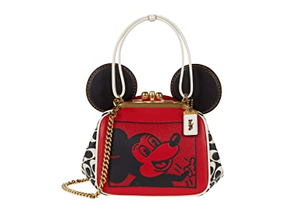 COACH Coach X Mickey Keith Haring Mickey with Signature Leather Kisslock Bag
