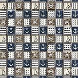 Fabulous Fabrics Gobelin Dekostoff Maritim Karo –