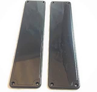 Remi Tools (R) 12 placas de empuje de dedo para puerta, color negro